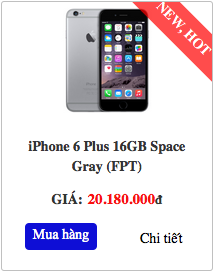 iPhone 6 Plus 16GB Gray Space
